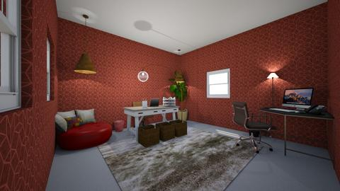 Final Red Room - Office  - by shankma
