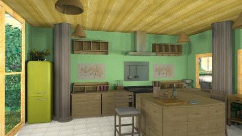 KG1 - Country - Kitchen  - by bluevioletspoprock