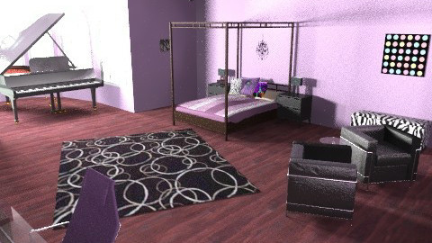 teenage girl's - Glamour - Bedroom  - by Ali May