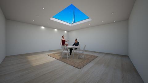 sky light dining - Retro - Dining room  - by husky interior designs