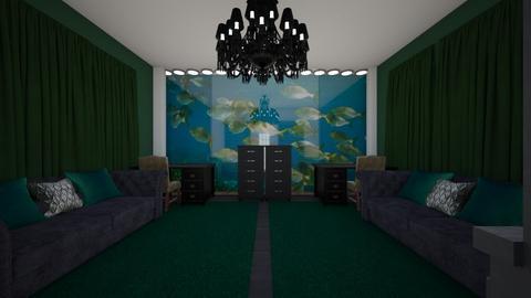 Green Lounge - Living room  - by riordan simpson