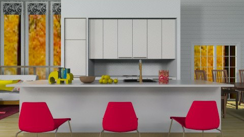 Lemon And Red - Modern - Kitchen  - by deleted_1513655778_Valencey14
