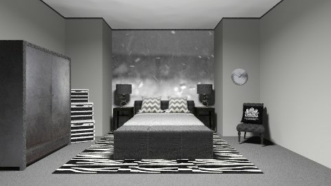 Black and White - Modern - Bedroom  - by PaxAmor
