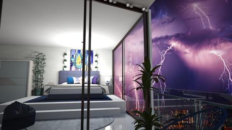 Stormy Day Bedroom - Bedroom  - by kasjdg
