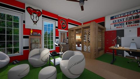 Sports Fan Bedroom - by ElleP