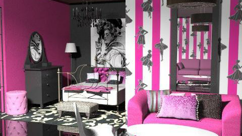 pink suite - Eclectic - Living room  - by chania