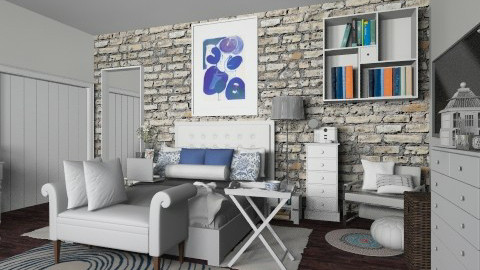 bluue - Eclectic - Bedroom  - by nataliaMSG