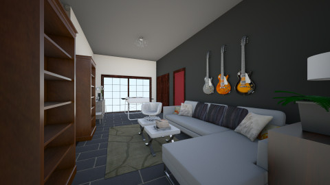 Basement Design One - Retro - by Raquel Collison