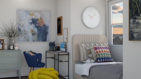 artistic dorm room  - Modern - Bedroom  - by moommusr