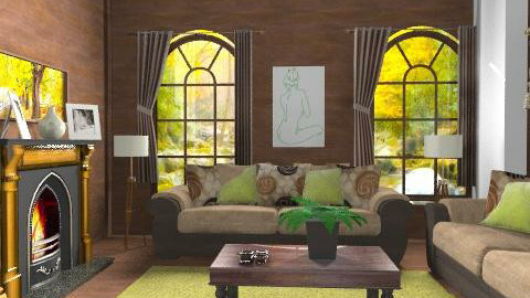 wooddd - Country - Living room  - by Cejovic Andrijana