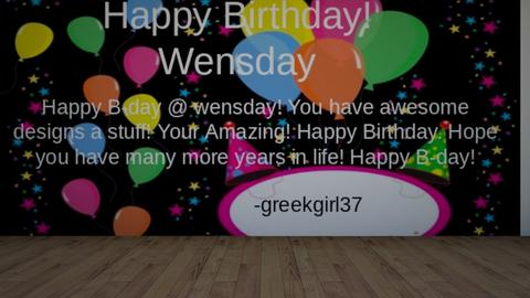 Happy Bday_wensday - by greekgirl37