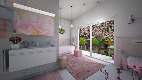 M_Cherry Blossom Bathroom - Bathroom  - by milyca8