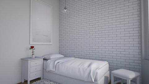Simplicity - Minimal - Bedroom  - by chocolatedonut71