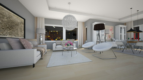 roses and ikea - Modern - Living room  - by Evangeline_The_Unicorn