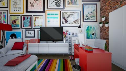 Red Gallery - Bedroom - by jadastratman