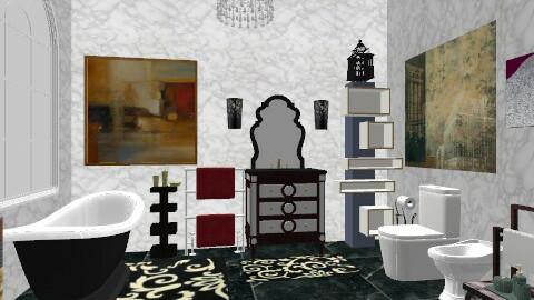 Black Dream - Glamour - Bathroom  - by irisdoc
