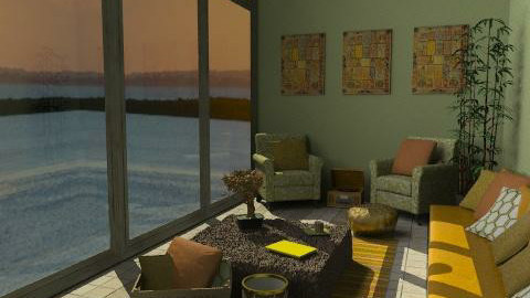 Maine at Sunset - Rustic - Living room  - by kishwick