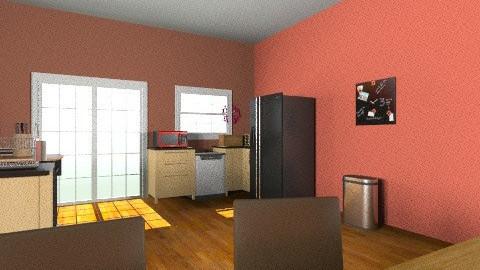 Kitchen Cherry Cocoa - Minimal - Kitchen  - by Britney Fish