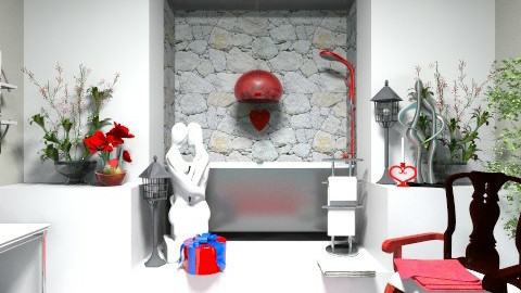 red - Modern - Bathroom  - by loretasofia