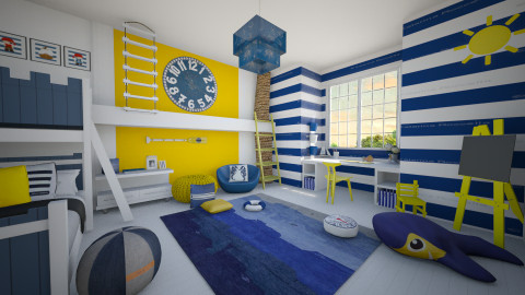 navy style - Kids room - by miadesign