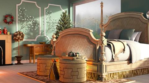 Green_Christmas - Bedroom  - by ZuzanaDesign