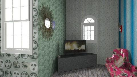 my  retard lounge - Retro - Living room  - by Mclean Dylan
