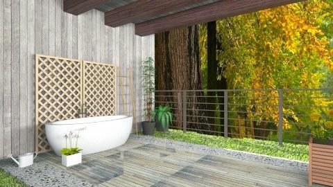 outdoor bathroom - Rustic - Bathroom  - by mire roig