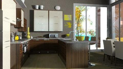 Mellow Yellow - Kitchen  - by jenshadow_222