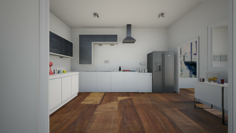 living kit and dining - Modern - Kitchen  - by franciss