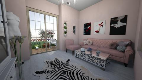 lovely flowers - Feminine - Living room - by princessofpuppets