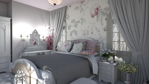 shabby chic bedroom - Bedroom  - by kisi mja