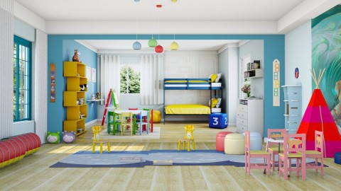 Q - Kids room  - by Moeshaval