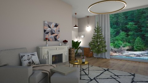 Christmas room  - by Carole Fontaine
