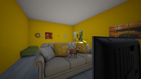 sunflower  living - Living room  - by munchkinemory123