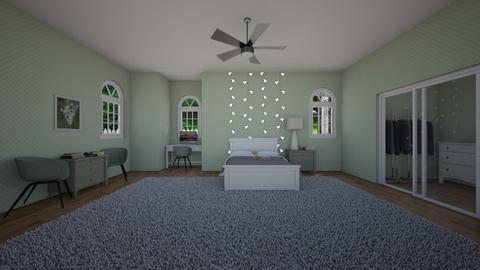 Sage Green Bedroom  - Bedroom  - by midnightspotlight