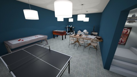 Downstairs Game Room - Eclectic - Kids room  - by millerfam