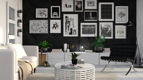 BW - Living room - by Liu Kovac