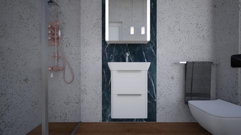 Bagno ospiti legno bianc3 - Bathroom  - by natanibelung