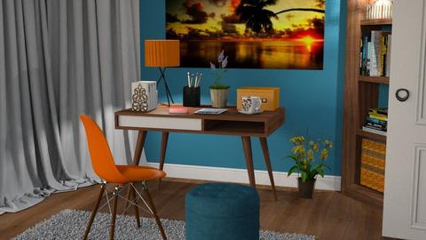 S_Orange n Blue - Office  - by Shajia