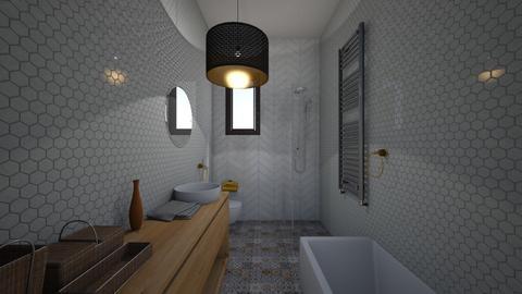 lazienka dziewczyn 2 - Eclectic - Bathroom  - by kenam