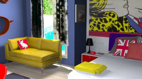 lichtenstein rules - Retro - Bedroom  - by Andrea_