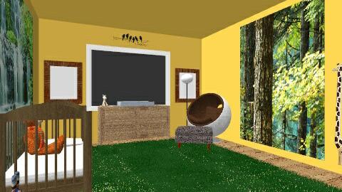 Jungle Nursery - Kids room - by wanderingpsychonaut