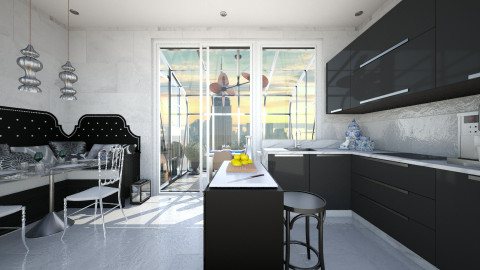 Nero - Eclectic - Kitchen - by AlSudairy S