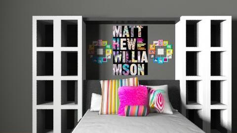 neon colored room - Retro - Bedroom  - by Lizette Najera