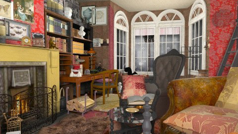 Baker St study2 - Vintage - Living room  - by katmills98