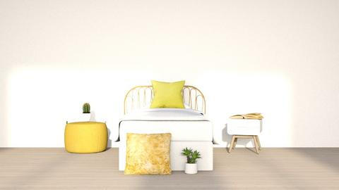 pastel yellow - Bedroom  - by tigeriffic