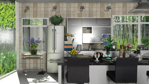 Countryside Modern Kitchen. View 2 - Modern - Kitchen  - by Your well wisher