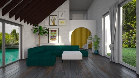 blue green yellow  - Country - Living room  - by tolo13lolo