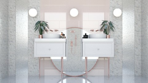 pink bathroom - Eclectic - Bathroom - by esmeegroothuizen
