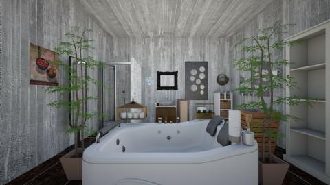 Relaxing Bath Inn - Modern - Bathroom  - by InteriorDesigner111